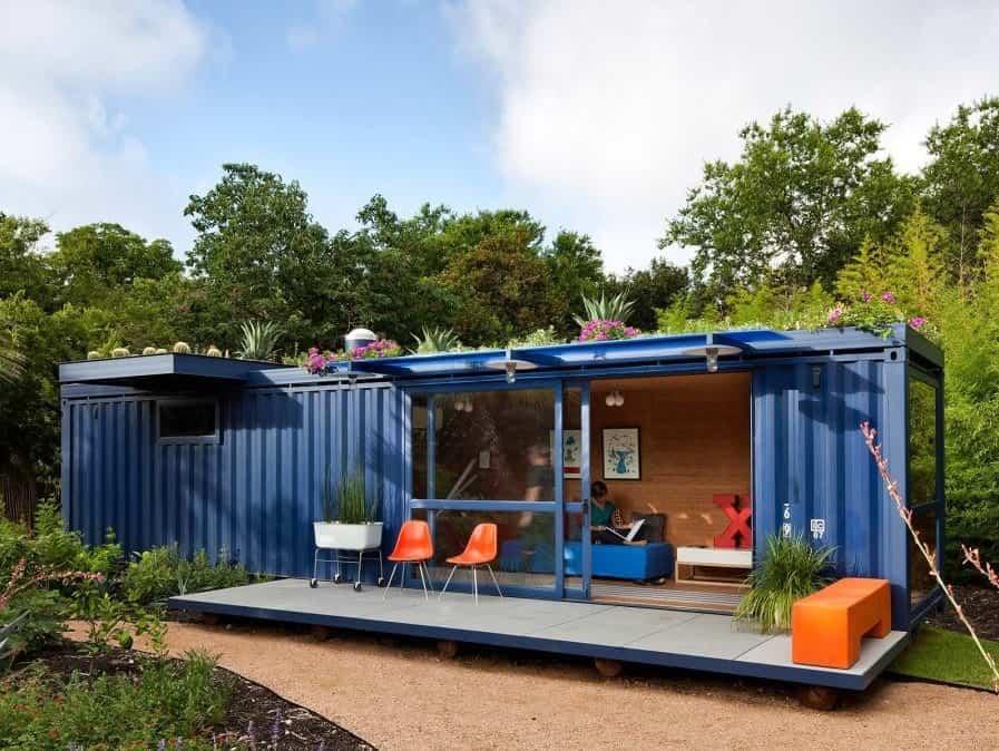 کانکس 12 متری برای اتاق سرایداری، اتاقک در محیط باغ، کاربری اداری، مسکونی و برای ایجاد یک سازه لوکس به عنوان کافی شاپ، اتاق جلسات