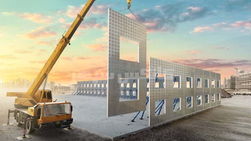 نصب دیوار ساختمان پیش ساخته