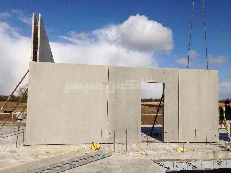 نصب دیوار پیش ساخته بتنی