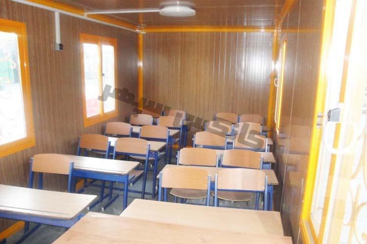 نمای درون کلاس کانکس کمپ مدرسه